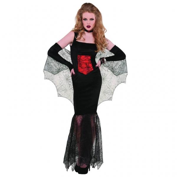 ... x 600 ...  sc 1 st  Pulpbits.net & Black Widow Spider Web Seductress Halloween Dress Costume : 9 Black ...