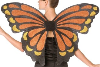Butterfly Monarch Adult Wings Costume in Dog