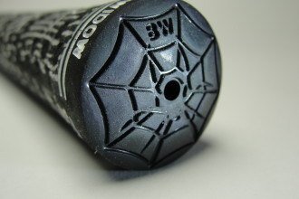Designer Spider Web Butt Cap , 6 Black Widow Spider Golf Grips In Spider Category