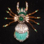 Faberge Black Spider Brooch , 7 Faberge Black Widow Spider Brooch In Spider Category