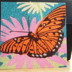 Glitter picture of a monarch butterfly , 9 Monarch Butterfly Craft In Butterfly Category