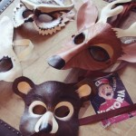 Leather Forest Animals Masks , 6 Rainforest Animal Masks In Animal Category