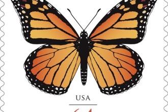 Monarch Butterflies Stamp 1 in Primates
