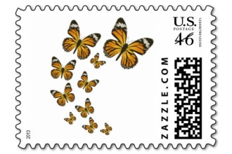 Monarch Butterflies Stamp 2 in Plants