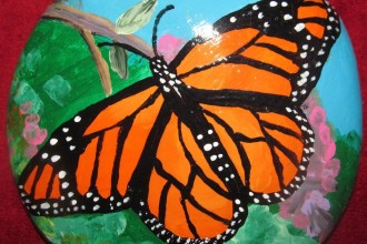 Monarch Butterfly craft in Dog