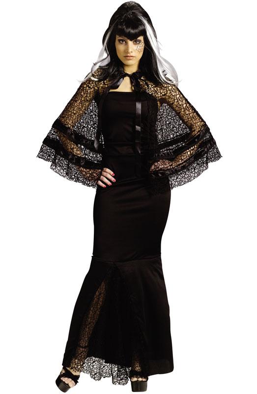 black wodiw adult capelet hallowen costume
