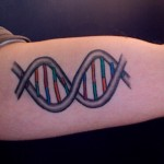 dna tatto , 6 Dna Helix Tattoo In Cell Category