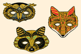 Rainforest Animal Masks To Make , 6 Rainforest Animal Masks In Animal Category