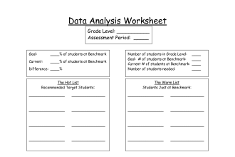 Data Analysis Worksheet : 7 Data Analysis Worksheets | Biological ...