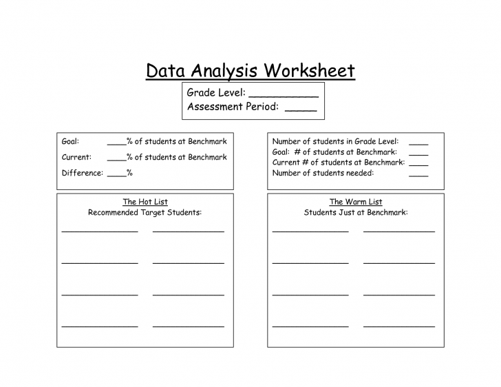 Data Analysis Worksheet 7 Data Analysis Worksheets