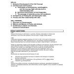 AP BIOLOGY OUTLINE FOR CELLULAR BIOLOGY , 6 Ap Biology Course Outline In Scientific data Category
