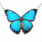 Blue Morpho Butterfly Necklace , 7 Blue Morpho Butterfly Necklace In Butterfly Category