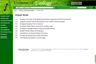 Elements of Ecology in Spider