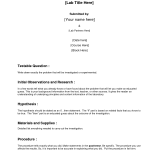 Formal Lab Report Template , 7 Formal Lab Report Template In Scientific data Category