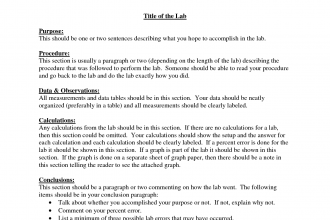 Formal Lab Reports For Chemistry     Formal Lab Report Template