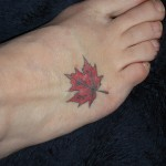Maple Leaf Tattoo , 6 Maple Leaf Tattoos In Human Category