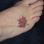 Maple Leaf Tattoo , 6 Maple Leaf Tattoos In Human Category