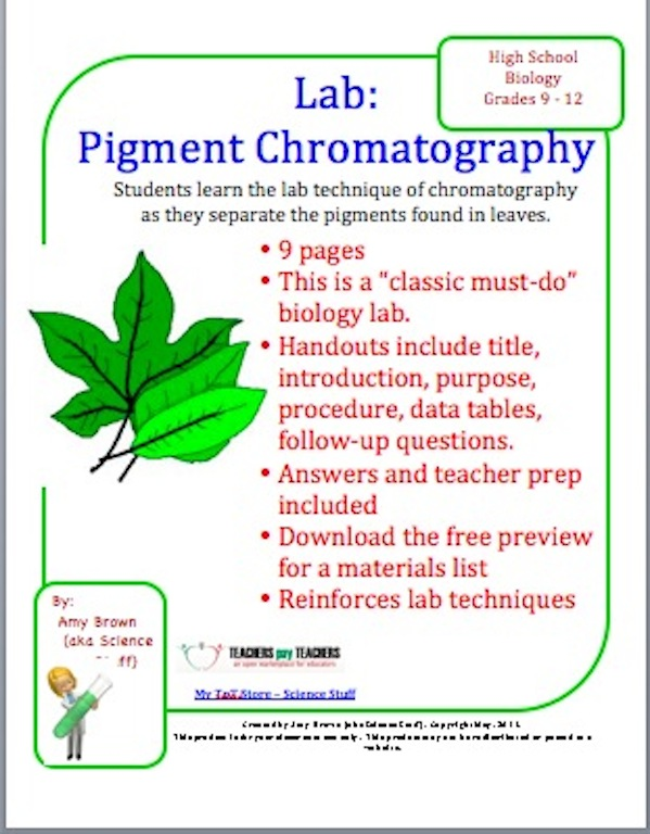 Laboratory , 6 Leaf Chromatography Pictures : Pigment Chromatography