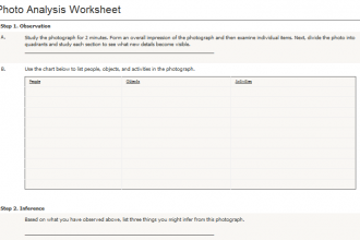 data analysis worksheets in Cell
