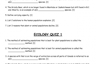 ecology quiz in pisces