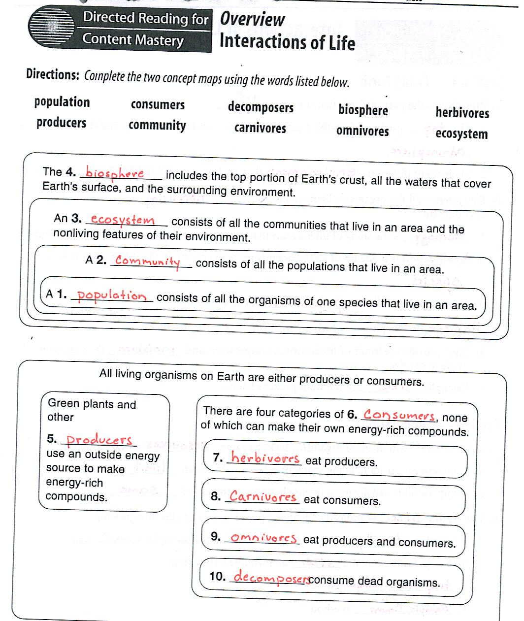 Worksheet Ecology Worksheets ecology worksheet fireyourmentor free printable worksheets and lol on pinterest