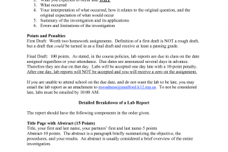 formal lab report template physics in Brain