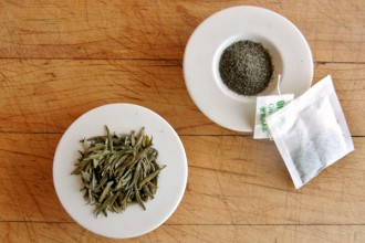 loose leaf tea vs tea bags in Muscles
