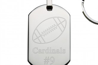 silver dog tag in pisces