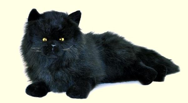 Bocchetta Onyx Stuffed Plush Black Persian Cat