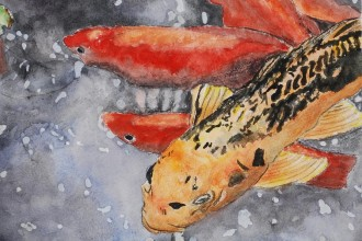 Koi Fish Painting , 8 Nice Koi Fish Pricing In pisces Category