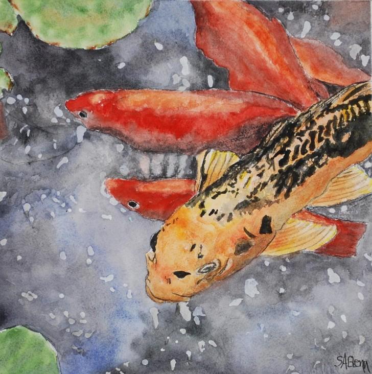 pisces , 8 Nice Koi Fish Pricing : Koi Fish Painting