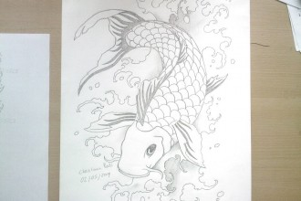 Koi Fish , 8 Good Koi Fish Drawings In pisces Category