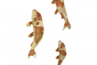 Small Koi Fish Sculpture , 8 Gorgeous Koi Fish Statues In pisces Category