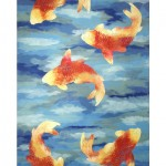 designer rug , 9 Charming Koi Fish Rug In pisces Category