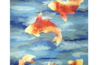 Designer Rug , 9 Charming Koi Fish Rug In pisces Category