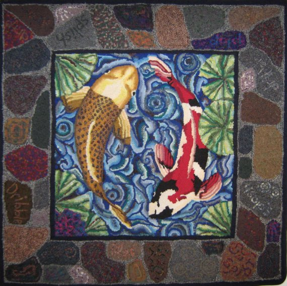 pisces , 9 Charming Koi Fish Rug : Inexpensive Area Rugs