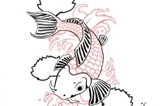 Koi Fish Color Meaning , 8 Good Koi Fish Drawings In pisces Category