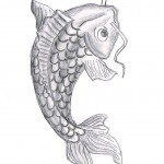 koi fish drawing , 8 Good Koi Fish Drawings In pisces Category