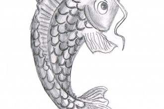 koi fish drawing in pisces