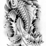 koi fish pictures , 8 Good Koi Fish Drawings In pisces Category