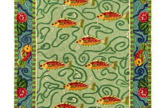 koi fish rug in Dog