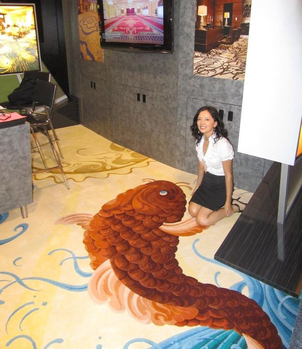 Koi Fish Rug : Biological Science Picture Directory
