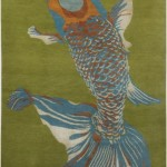 modern rug , 9 Charming Koi Fish Rug In pisces Category