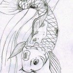 sketch koi fish , 8 Good Koi Fish Drawings In pisces Category