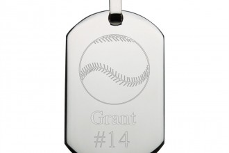 Baseball Engraved Stainless Steel Dog Tag , 6 Fabulous Dog Tags With Pictures Engraved In Dog Category