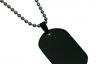 Black Color Oval Dog Tag , 8 Amazing Personalized Dog Tags With Pictures In Dog Category