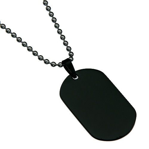 Dog , 8 Amazing Personalized Dog Tags With Pictures : Black Color Oval Dog Tag