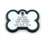 Bone Shape Pet ID Tag , 7 Gorgeous Dog Tag Picture Engraving In Dog Category