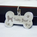 Double Sided Engraved , 6 Fabulous Dog Tags With Pictures Engraved In Dog Category