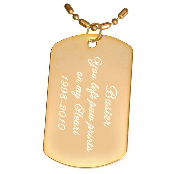 Dog , 7 Gorgeous Dog Tag Picture Engraving : Engraved Gold